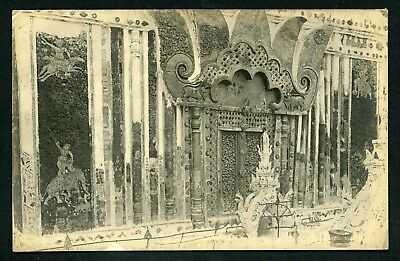 Siam Thailand interior Buddhist temple religion c1915 postcard Asia
