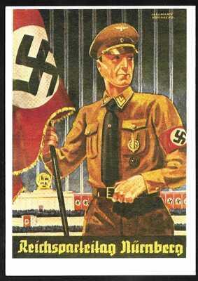 GERMANY World War 2 Era Patriotic Picture Postcard Nurnberg