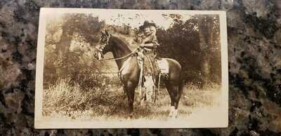 rppc Bessie Herberg Cowgirl on horse 101 ranch postcard