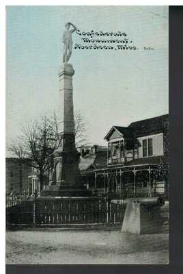 Confederate Monument, Aberdeen, Mississippi, early 1900's