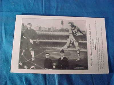 1911 BASEBALL WORLD SERIES Game 1 PHOTO Illustrated POSTCARD Giants vs A's