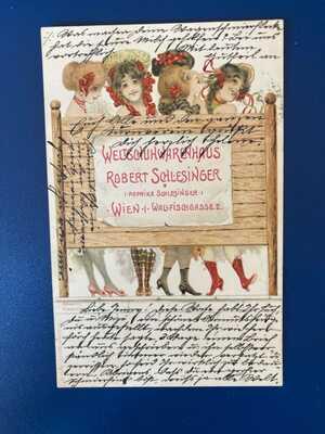 Raphael Kirchner F.2 Robert Schlesinger  Vienna Shoe shop Very Rare card