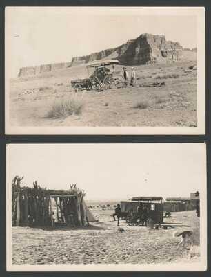 RPPC Postcard Camp  Red Mesa on Way to Oraibi - Hogan Tent Trailer Tee Pee