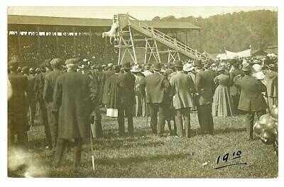 J.W. GORMAN'S HORSE DIVING EXHIBITION - ORIG 1910 RPPC VERMONT STATE FAIR Rare