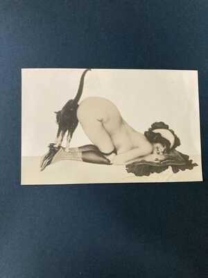 Raphael Kirchner , M1-6 Photographic postcard Rarety R-6 in Dell'Aquila