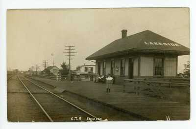 Grand Trunk Railway Station LAKESIDE Pointe Claire Montreal Quebec 1908-11 RPPC