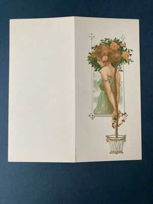 Raphael Kirchner K.3 Note 1 Page 217 Dell'Aquila . Embossed greeting card