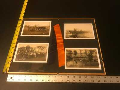 University of Illinois 1912-Football-Push ball-Homecoming Photo- RPPC- (4)FRAMED