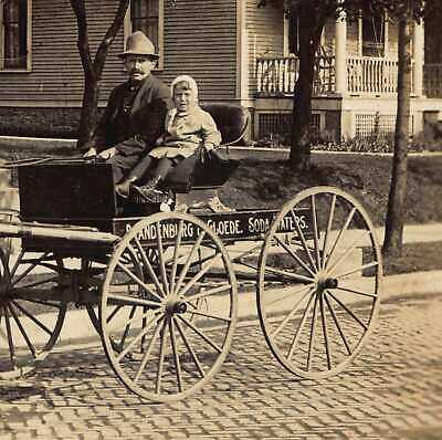 Brandenburg & Gloede Soda Cart Racine, Wisconsin RPPC REAL Photo Postcard Bottle