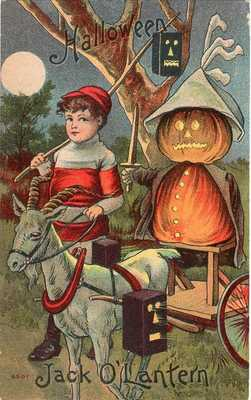 HALLOWEEN POSTCARD SERIES 6500-6511. 6501 JACK O'LANTERN, OCTOBER 31st, 1910.