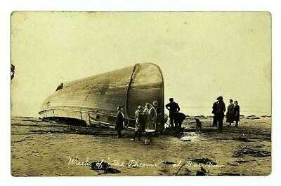 "WRECK OF GAS SCHOONER ""PHOENIX"" 1923 RPPC TILLAMOOK BAR, BARVIEW, OREGON - Rare"