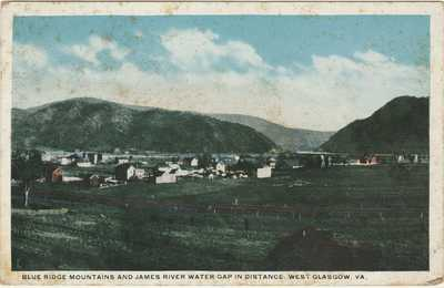 Glasgow VA -- Blue Ridge Mountains & James River Water Gap -- W. E. Burgess