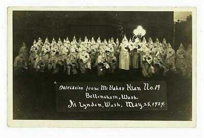 BELLINGHAM WASHINGTON MT BAKER KKK DELEGATION Vintage 1924 rppc Photo LYNDEN WA