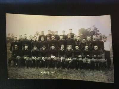 1914 University of Illinois Football Team Real Photo Postcard RPPC