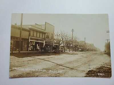 Niles Alameda California Main St Wagons Hardware PostOffice Besaw Photo RPPC