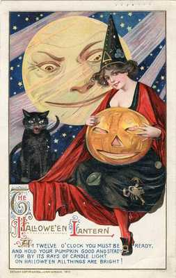HALLOWEEN POSTCARD PUBLISHED BY WINSCH, SAMUEL SCHMUCKER, COPYRIGHT 1912.