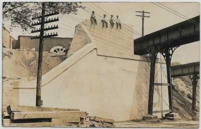 Sidney,Ohio-CH&D/B&O Railroad Bridge-Fair Avenue-1910 Real Photo jh75