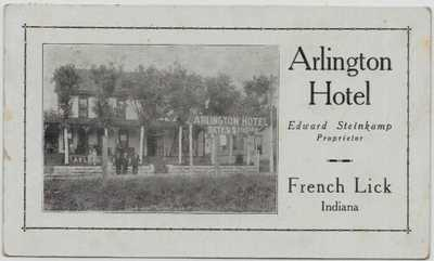 French Lick,Indiana-Arlington Hotel-c1918 jjh26