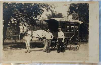 "Gloucester NJ RPPC Real Photo Postcard ""John McDade"" Third Street Ice Wagon"