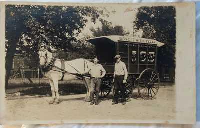 "Gloucester NJ RPPC Real Photo Postcard ""John McDade"" Third Street Ice Wagon"