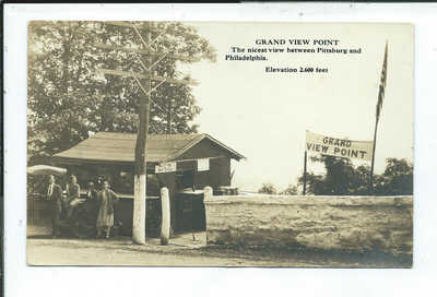 Grand View Point PA Pennsylvania RPPC Postcard Roadside Refreshment Stand