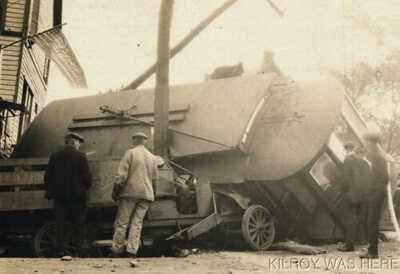 1914 RPPC Trolley Streetcar Accident Bethlehem Pa Wyandotte & Wood Streets Rare!