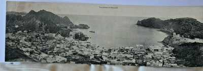 PANORAMIC VIEW OF MUSCAT,OMAN POSTCARD c1910 -VERY RARE