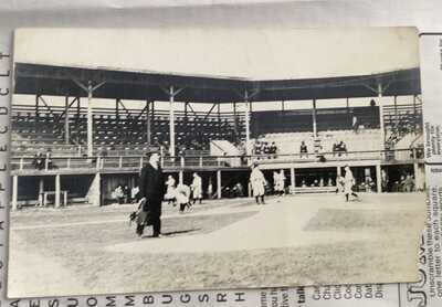 RPPC Grapefruit League BASEBALL 1913 PENSACOLA Florida - Vintage Photo Postcard
