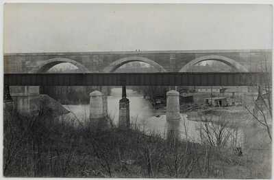Sidney,Ohio-CH&D Railroad Bridge and Interurban Railway Bridge-Real Photo jh16
