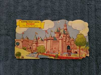 Disneyland Extremely Rare Sleeping Beauty Castle Hard Stock Vintage Post Card