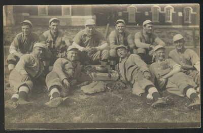 1910S RPPC, MISSOURI SCHOOL FOR THE DEAF BASEBALL TEAM, FULTON, MO.