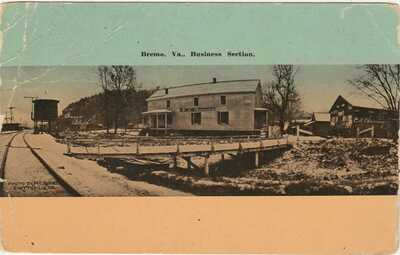 BREMO BLUFF VA -- Business Section -- W. E. BURGESS, Scottsville - C.M. Chewning