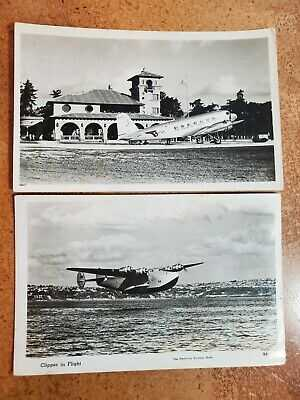 Pan American Airways Clipper PAA Airport Arch Building 2 Photo Post Card RPPC