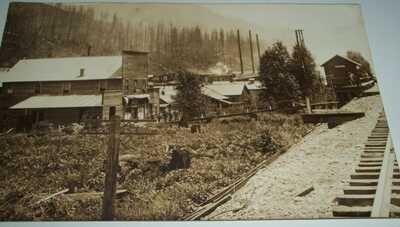 RPPC Postcard - Nagrom, WA - Ghost Town - Near Lester, WA - NP Railroad Station