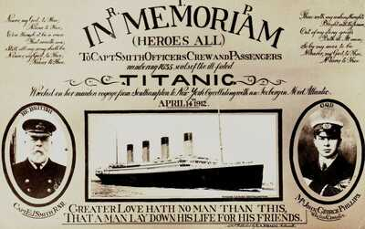 CORNWALL: TITANIC IN MEMORIAM Real Photo. ORIGINAL BRAGG P.C. Published 1912.