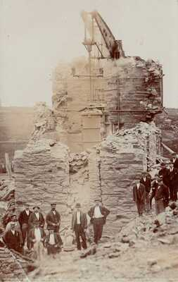 Cornwall: MINING - ST AGNES. WHEAL KITTY MINE AFTER FIRE. Real Photo. R.P 1905.