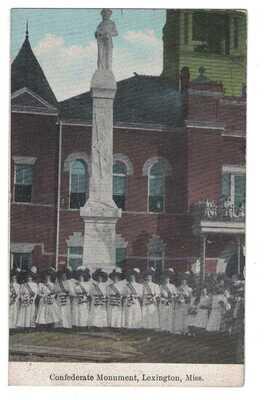Confederate Monument Unveiling Lexington, Mississippi 1908