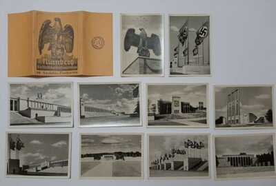 10 Nazi Postcards In Paper Case Nurnberg, GERMANY Vintage near mint condition