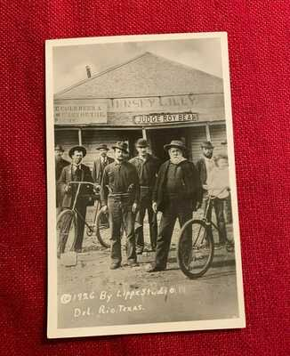 Mint RARE RPPC  Texas -JUDGE ROY BEAN-  and the- JERSEY LILLY - SALOON  Postcard