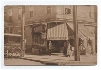VINTAGE RPPC L W GOOSE GENERAL STORE ANTHONY AVE., NEW YORK