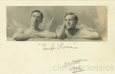 1906 Angel Men Shirtless Angelic Guys Gay Int RPPC