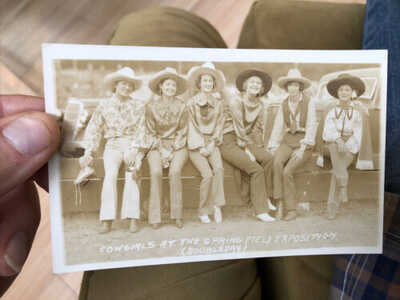RARE OLD Group COWGIRL Western RODEO RPPC Photo POSTCARD Springfield Expo