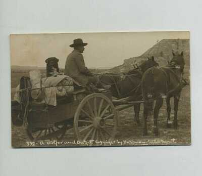 Rare 1908 RPPC Huffman Real Photo Miles Montana Postcard Terry MT Cancel yz6677