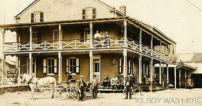 1910 RPPC Plumsteadville Inn Pa Brown Del Wagon Blooming Glen Tannhauser Beer