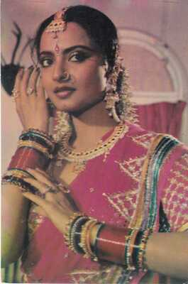 Bollywood Actress Postcard - Rekha (02)