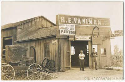 1907 RPPC Harvey Vaniman Blacksmith Shop Dayton Oh Carriage Auto Painting MINT!