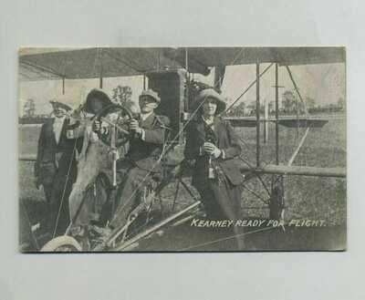 (1912) Rockport IN Fair Postcard Horace Kearney Aviator Aeroplane Cancel yz7053