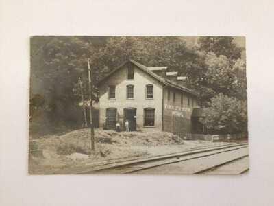 West Virginia RPPC Photo Postcard Post Office Fire Creek, WV