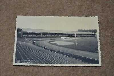 R BEERSCHOT AC Belgium vintage Belgian football club ground stadium postcard
