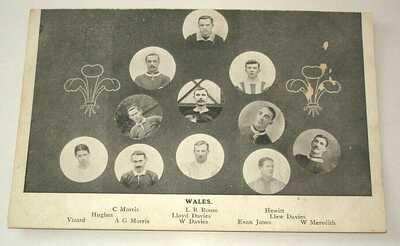 Wales International Football. Billy Meredith, L.R. Roose, Lloyd Davies, Vizard